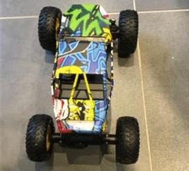 Test Maxtronic rc graffiti rock crawler